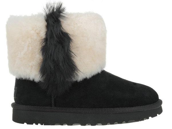 Дамски обувки UGG Classic Mini Wisp - Черни
