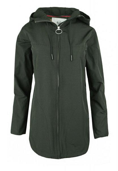Дамско яке Herschel Hooded Jumper Jacket - Тъмно зелено