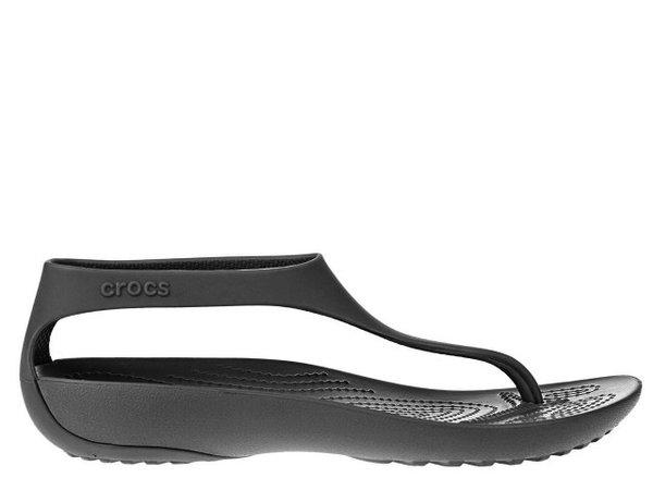 Дамски джапанки Crocs Serena Flip - Черни