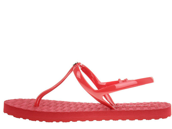 Дамски сандали Tommy Hilfiger Flat Strappy Beach S - Червени
