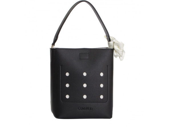Дамска чанта Calvin Klein VENT BUCKET Hobo - Черна