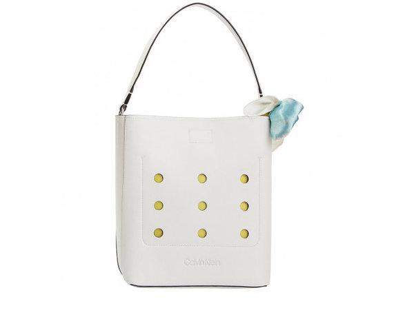 Дамска чанта Calvin Klein VENT BUCKET - Бяла