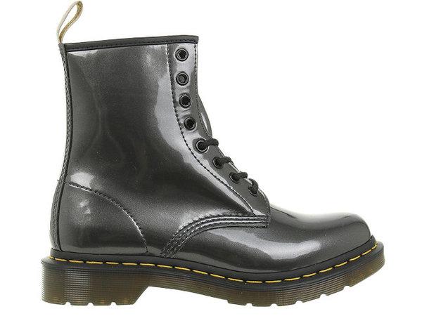 Дамски обувки Dr. Martens Vegan Chrome Gunmetal Paint - Черна