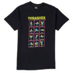 Мъжка Тениска THRASHER BLACK LIGHT - Черна