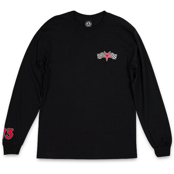 Мъжка блуза THRASHER RACING LONGSLEEVE - Черна