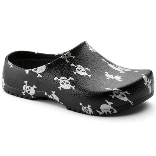 Мъжки работни обувки Birkenstock Super Birki - Черни с черепи