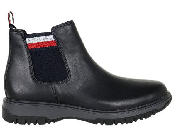 Мъжки обувки Tommy Hilfiger Cleated Outsole Low Boot - Черни