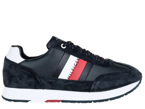 Мъжки обувки Tommy Hilfiger Corporate Leather Low Cut - Тъмно сини