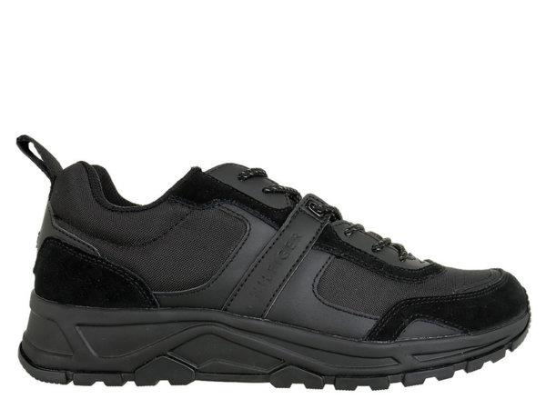Мъжки обувки Tommy Hilfiger Fashion Mix Sneaker Low Cut - Черни