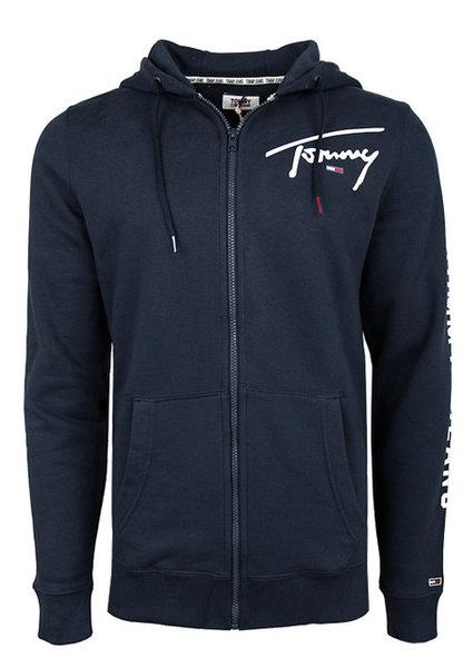 Мъжка блуза с качулка Tommy Hilfiger Tjm Tommy Script Zip Heavyweight Zip - Синя