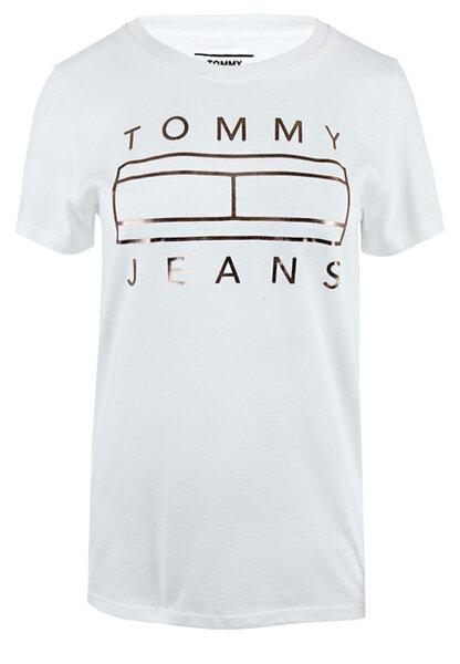 Дамска тениска Tommy Hilfiger Tjw Metallic Logo Tee - Бяла
