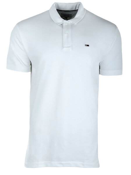 Мъжка поло тениска Tommy Hilfiger TJM TOMMY CLASSICS - Бяла