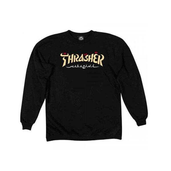 Мъжка блуза Thrasher CALIGRAPHY CREWNECK - Черна