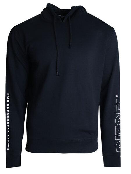 Мъжка блуза с качулка Diesel Umlt Brandon - Черна