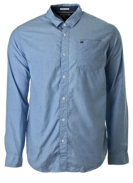 Мъжка риза Tommy Hilfiger Tjm Original End On - Синя