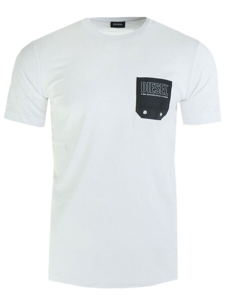 Мъжка тениска Diesel BMOWT DIEGO - Бяла