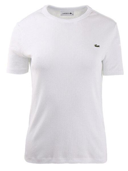 Дамска тениска Lacoste Soft Cotton Crew Neck - Бяла