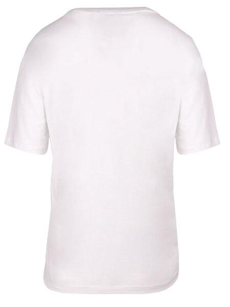 Дамска тениска Lacoste V-Neck Premium Cotton - Бяла