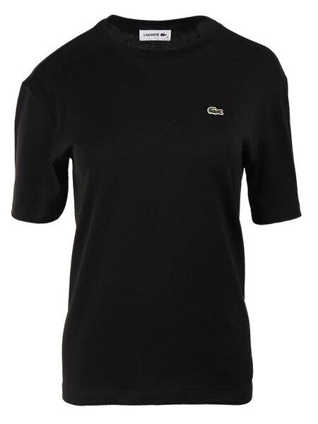 Дамска тениска Lacoste Crew Neck Premium Cotton - Черна