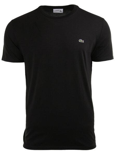Мъжка тениска Lacoste Crew Neck Pima Cotton - Черна