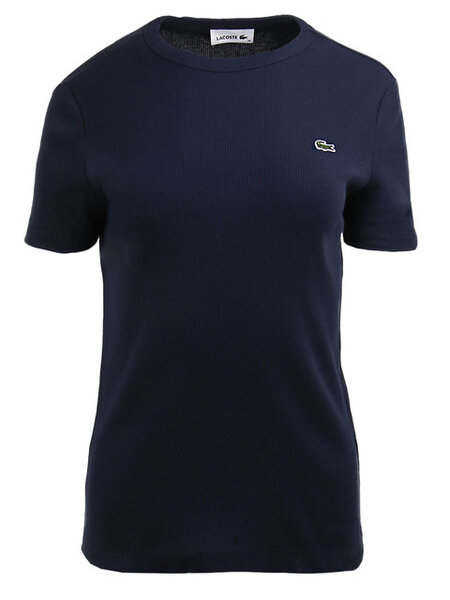 Дамска тениска Lacoste Soft Cotton Crew Neck - Синя
