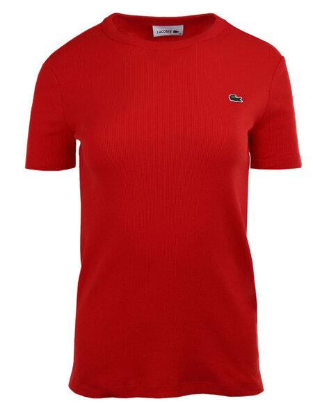 Дамска тениска Lacoste Soft Cotton Crew Neck - Червена