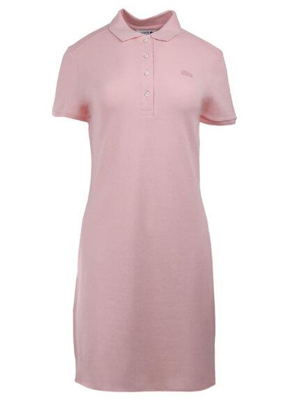 Дамска рокля Lacoste Stretch Cotton Piqué Polo Dress - Розова