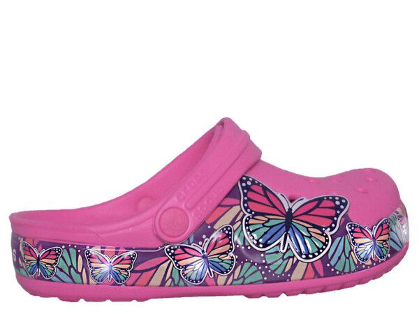 Детски обувки Crocs FL Butterfly - Розови