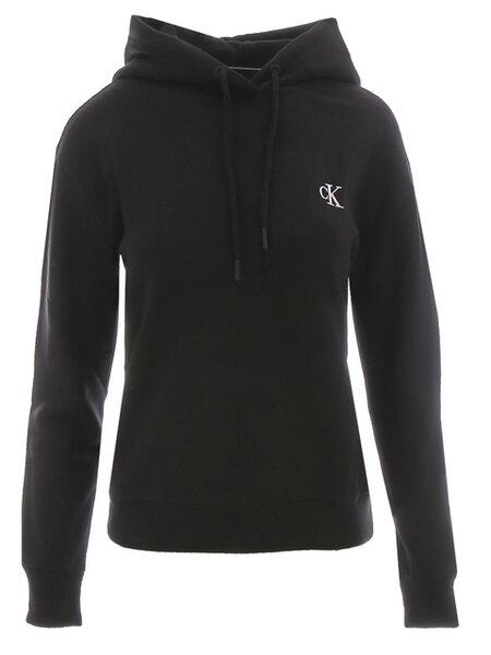 Дамска блуза с качулка Calvin Klein Embroidery Hoodie - Черна