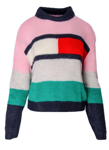 Дамска блуза Tommy Hilfiger Tjw Bell Sleeve Flag - Пъстри