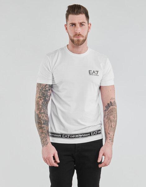Мъжка тениска ЕА7 3KPT05 PJ03Z 1100 - Бяла