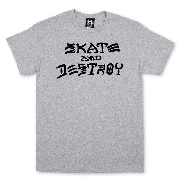 Мъжка тениска SKATE AND DESTROY - Сива