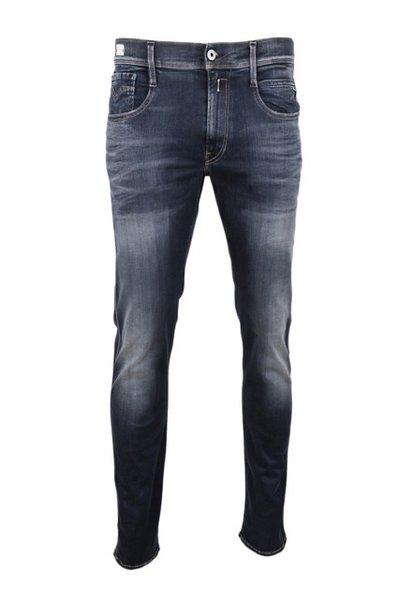 Мъжки дънки REPLAY Men's Anbass Hyperflex Slim Fit Jeans - Тъмно сини