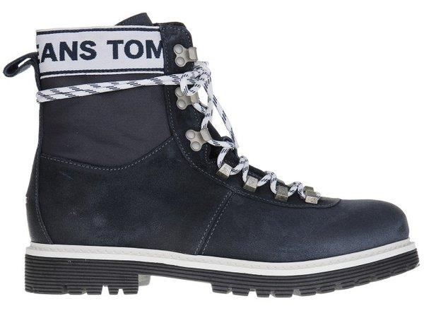 Мъжки обувки Tommy Hilfiger Canvas Suede Boot Ink - Тъмно сини
