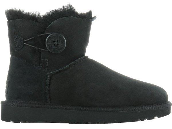 Дамски обувки UGG W Mini Bailey Button II - Черни