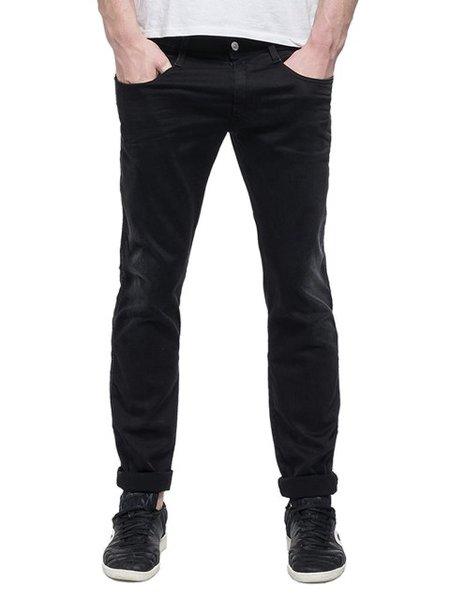 Мъжки дънки REPLAY Men's Jeans Hyperflex Black Strecht Denim - Черни