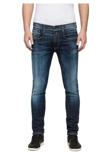 Мъжки дънки REPLAY Men's Jeans Straight - Тъмно сини