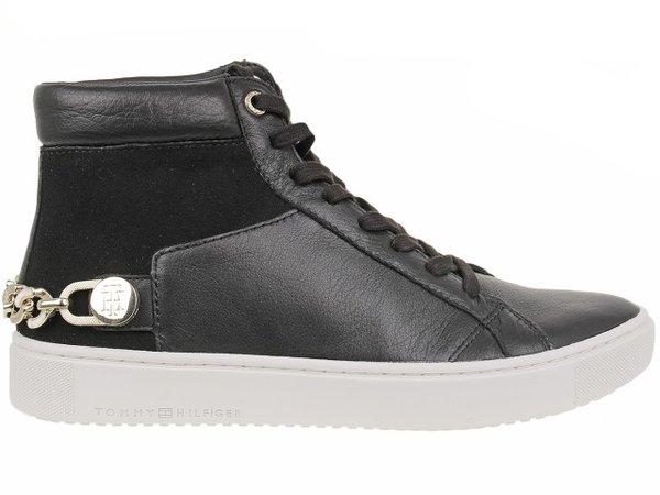 Дамски обувки Tommy Hilfiger Chain Mid - Черни