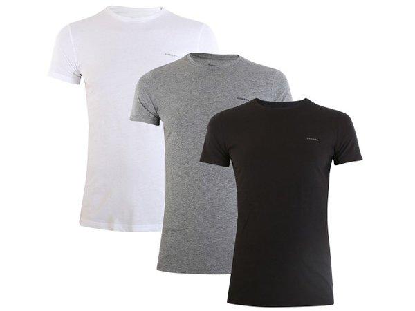 Мъжки тениски DIESEL UMTEE T-SHIRT JAKE 3-PACK - Бяла/Сива/Черна