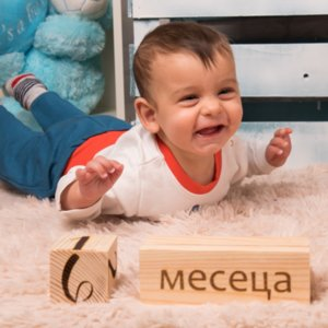 Персонализирани кубчета и рамки за бебе Изображение