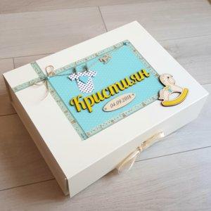 Луксозни кутии за спомени от мукава и дизайнерски картон Изображение