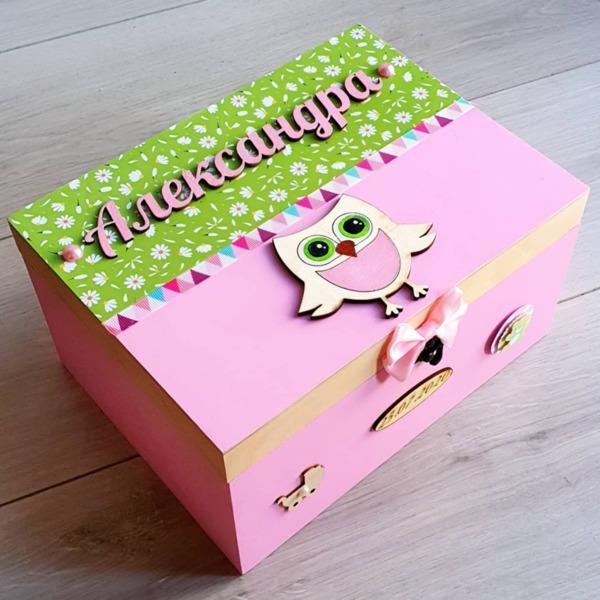 Голяма кутия за спомени Бухалче със/без продукти