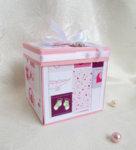 Ръчно изработена картичка-кутийка Момиче