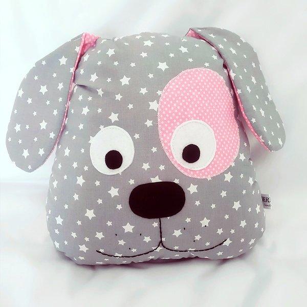 Ръчно изработена възглавничка от плат Куче