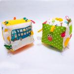 Ръчно изработено кубче за игра от плат