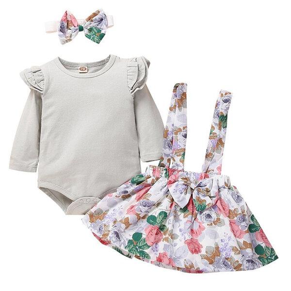 Комплект с рокля Цветя