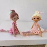 Ръчно плетена играчка от прежда Златни момичета
