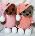 Ръчно плетено играчка от бебешка прежда Меченце