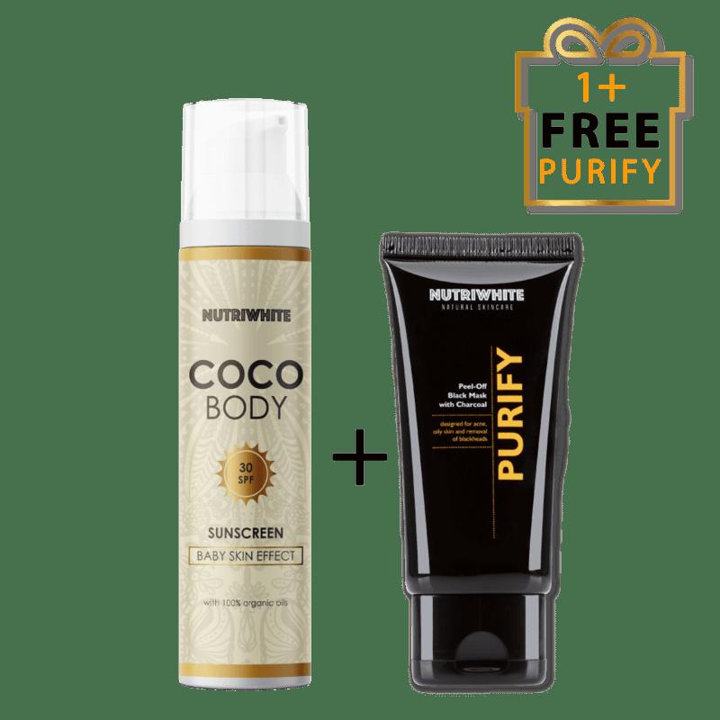 NUTRIWHITE Coco Body + Purify безплатно