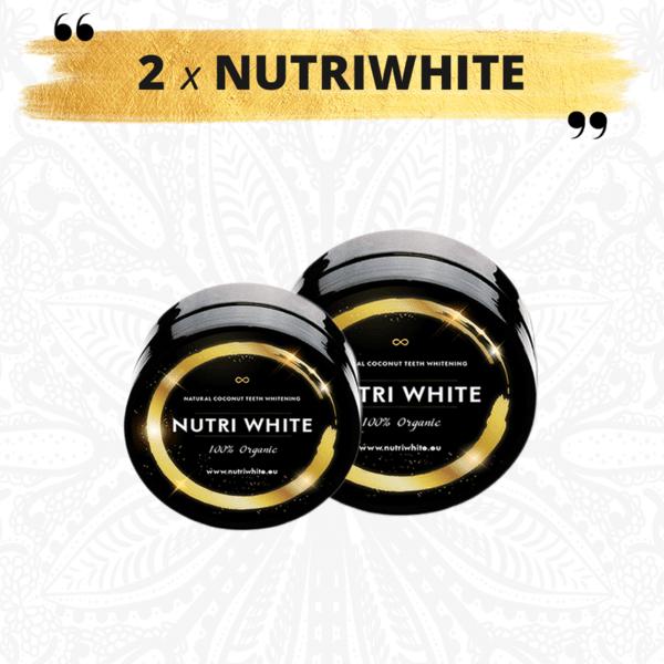 2x NUTRIWHITE - 2 броя Натурален Кокосов Въглен за избелване на зъби